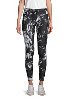 Betsey Johnson Colorblock Floral-Print Leggings