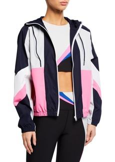Betsey Johnson Colorblock Hooded Jacket
