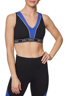 Betsey Johnson Colorblock Logo Band Sports Bra