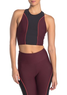 Betsey Johnson Colorblock Pipe Longline Sports Bra