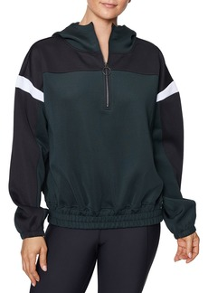 Betsey Johnson Colorblocked 1/2-Zip Pullover Hoodie