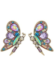 Colorful Blooming Butterfly Stud Earrings