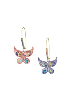 Betsey Johnson Colorful Butterfly Drop Earrings