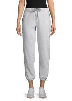 Betsey Johnson Contrast Cotton-Blend Jogger Pants