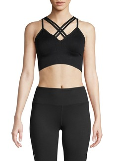 Betsey Johnson Crisscross Knit Sports Bra