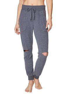 Betsey Johnson Cutout Cotton-Blend Sweatpants