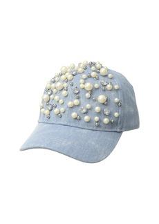 Denim with Pearls Baseball Cap
