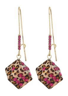 Betsey Johnson Dice Sheppard Hook Earrings
