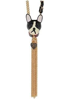 Betsey Johnson Dog Tassel Long Pendant Necklace