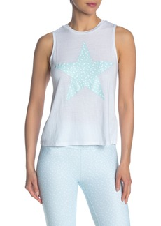 Betsey Johnson Dotted Star Graphic Tank