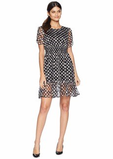 Betsey Johnson Dotty Ruffle Hem Dress