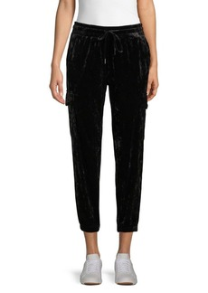 Betsey Johnson Drawstring Velvet Pants