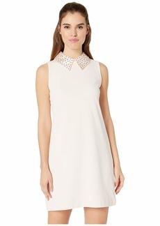 Betsey Johnson Embellished Collar Shift Dress