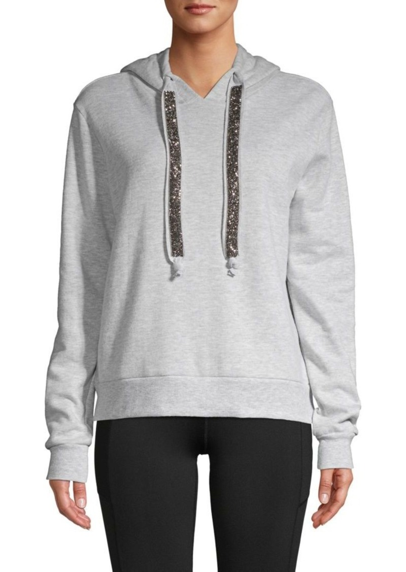 Betsey Johnson Embellished Cotton-Blend Hoodie