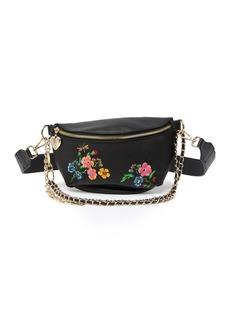 Betsey Johnson Embroidered Floral Belt Bag