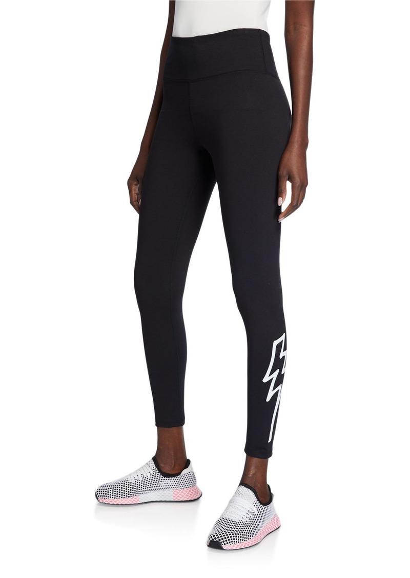 Betsey Johnson Extra High-Rise Lightning Bolt Graphic 7/8 Leggings