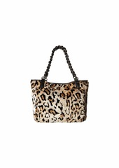 Betsey Johnson Faux Fuh Belt Tote