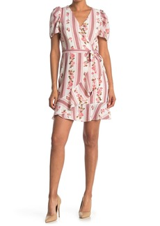 Betsey Johnson Floral Faux Wrap Mini Dress