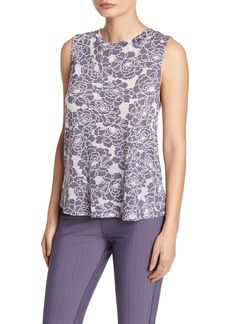 Betsey Johnson Floral Knit Workout Tank