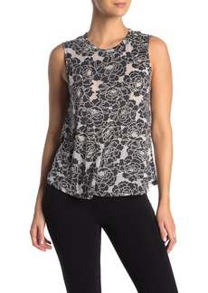 Betsey Johnson Floral Knit Workout Tank