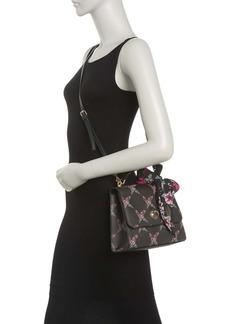 Betsey Johnson Floral Lattice Print Top Handle Crossbody Bag