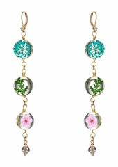 Betsey Johnson Floral Linear Earrings