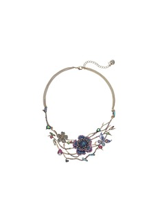 Floral Open Work Frontal Necklace