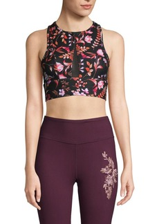 Betsey Johnson Floral-Print Sports Bra