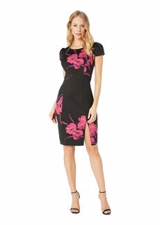 Betsey Johnson Floral Scuba Midi Dress