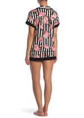 Betsey Johnson Floral Stripe Pajama 2-Piece Set