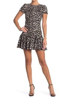Betsey Johnson Flounce Hem Mini Dress