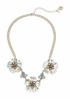 Betsey Johnson Flower Frontal Necklace