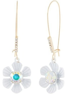 Betsey Johnson Flower Shepherd Hook Earrings