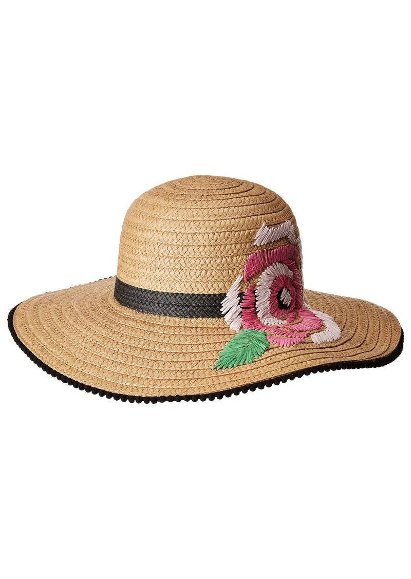 Betsey Johnson Flowerista Floppy Hat  e488cdd97