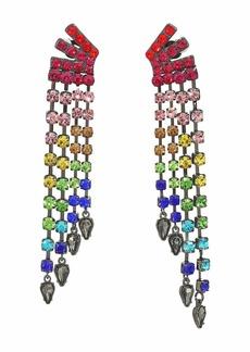 Betsey Johnson Fringe Clip Earrings