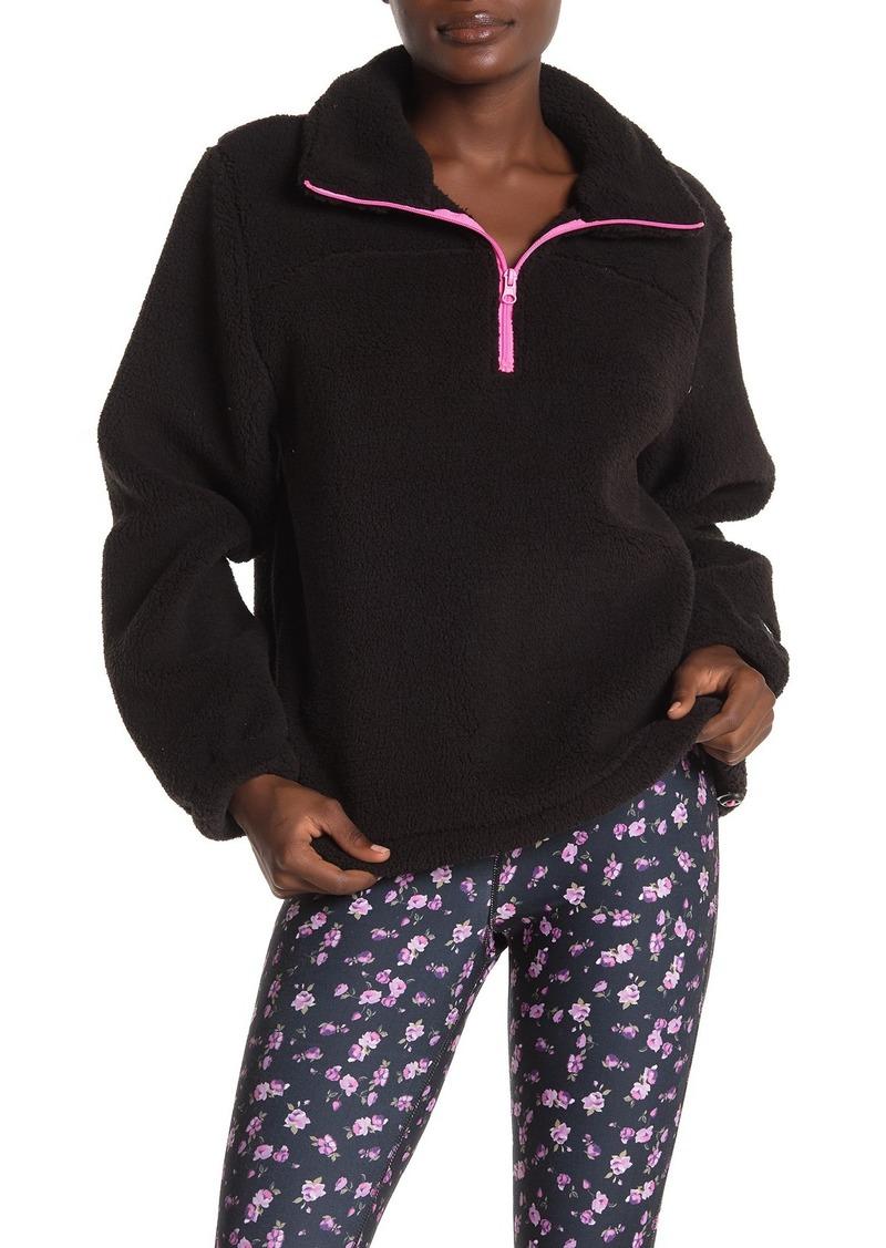Betsey Johnson Funnel Neck Fleece Pullover