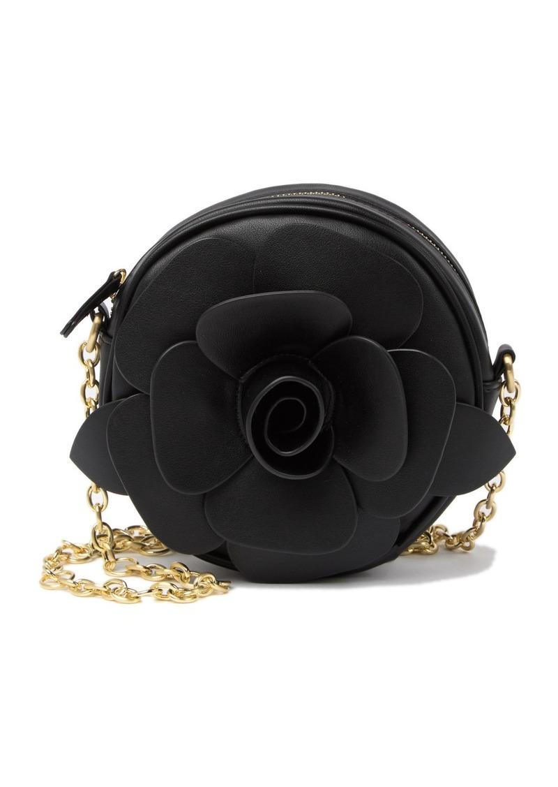 Betsey Johnson Glitter Rosette Crossbody Bag