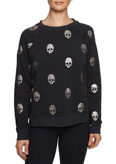Betsey Johnson Glitter Skull Sweatshirt