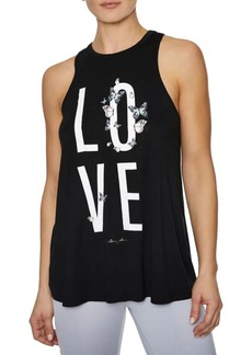 Betsey Johnson Graphic Racerback Tank Top