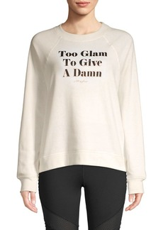 Betsey Johnson Graphic Raglan-Sleeve Sweatshirt