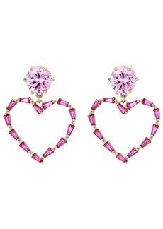 Betsey Johnson Heart Drop Earrings