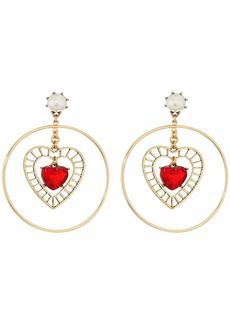 Betsey Johnson Heart Orbital Earrings