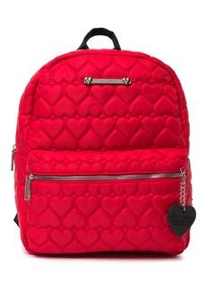 Betsey Johnson Heart Quilt School Backpack