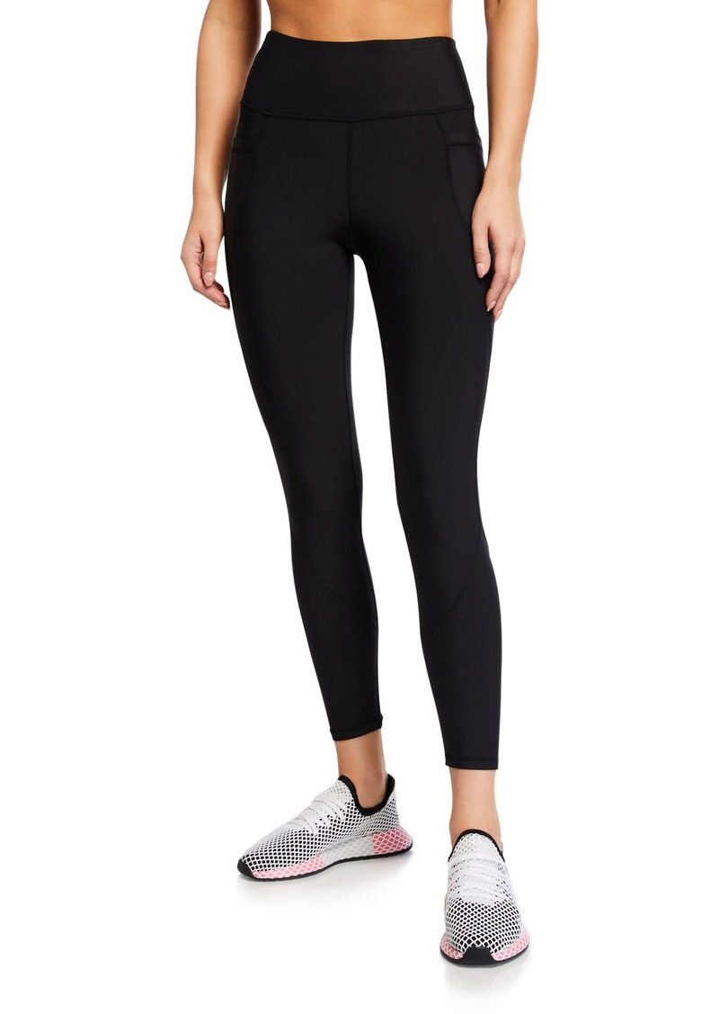 Betsey Johnson High-Rise Curved-Pocket 7/8 Leggings