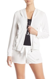 Betsey Johnson Hooded Front Zip Jacket