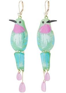 Betsey Johnson Hummingbird Drop Earrings