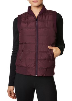 Betsey Johnson Hybrid Rib-Trim Quilted Vest
