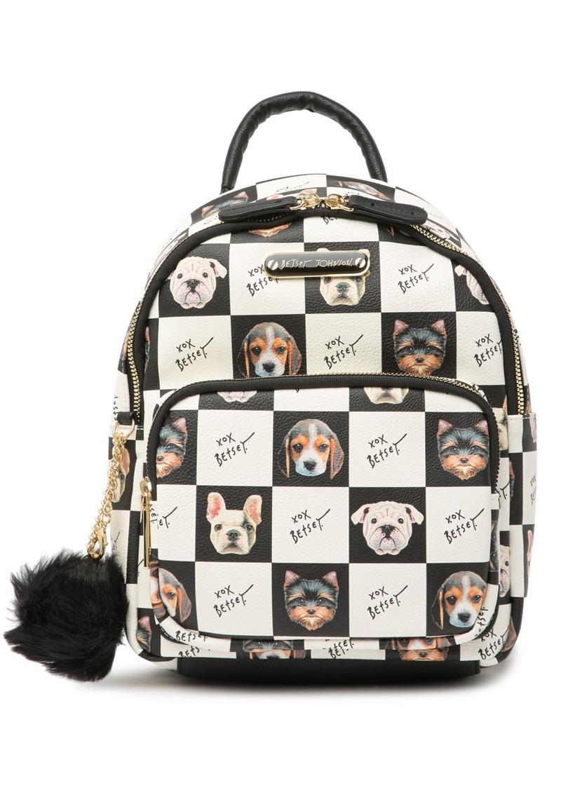 Betsey Johnson Dog Print Kitch Backpack