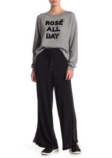 Betsey Johnson Knit Wide Leg Lounge Pants