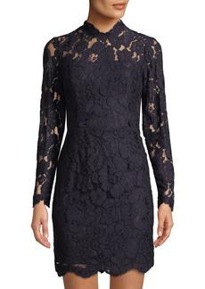 Betsey Johnson Lace Mock-Neck Cocktail Dress